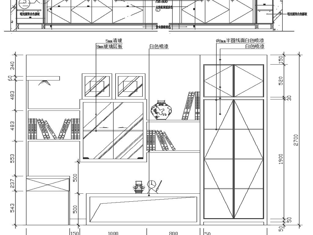 比例图纸打印标注图纸书柜cad婴儿图纸餐桌椅v比例图纸图片