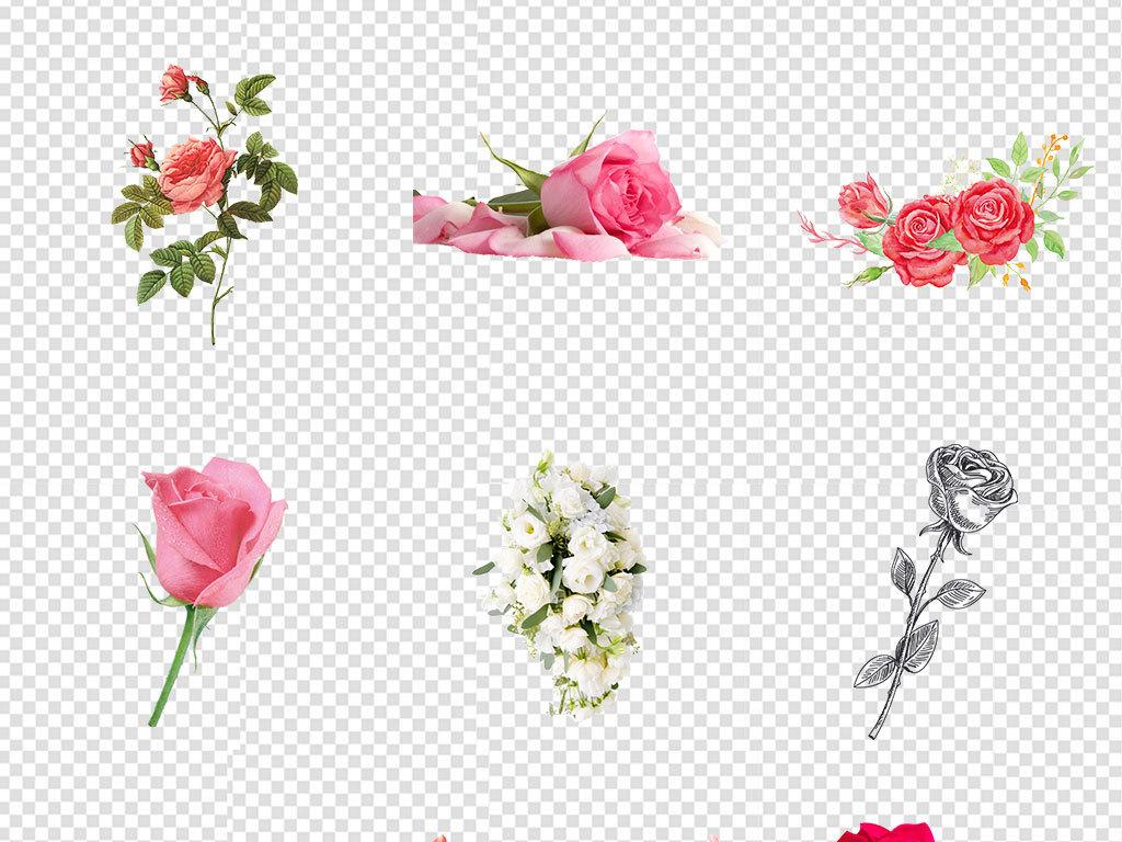 女装服饰装饰鲜花店手绘鲜花花卉海报png素材