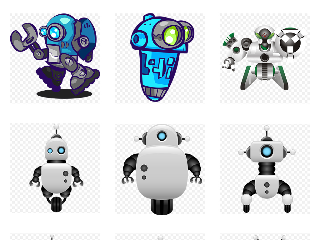 绘3D立体智能机器人武装机器人PNG高清图图片素材 模板下载 58.90