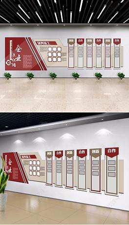 展厅照片墙公司员工风采效果图-CDR室内设计公司简介
