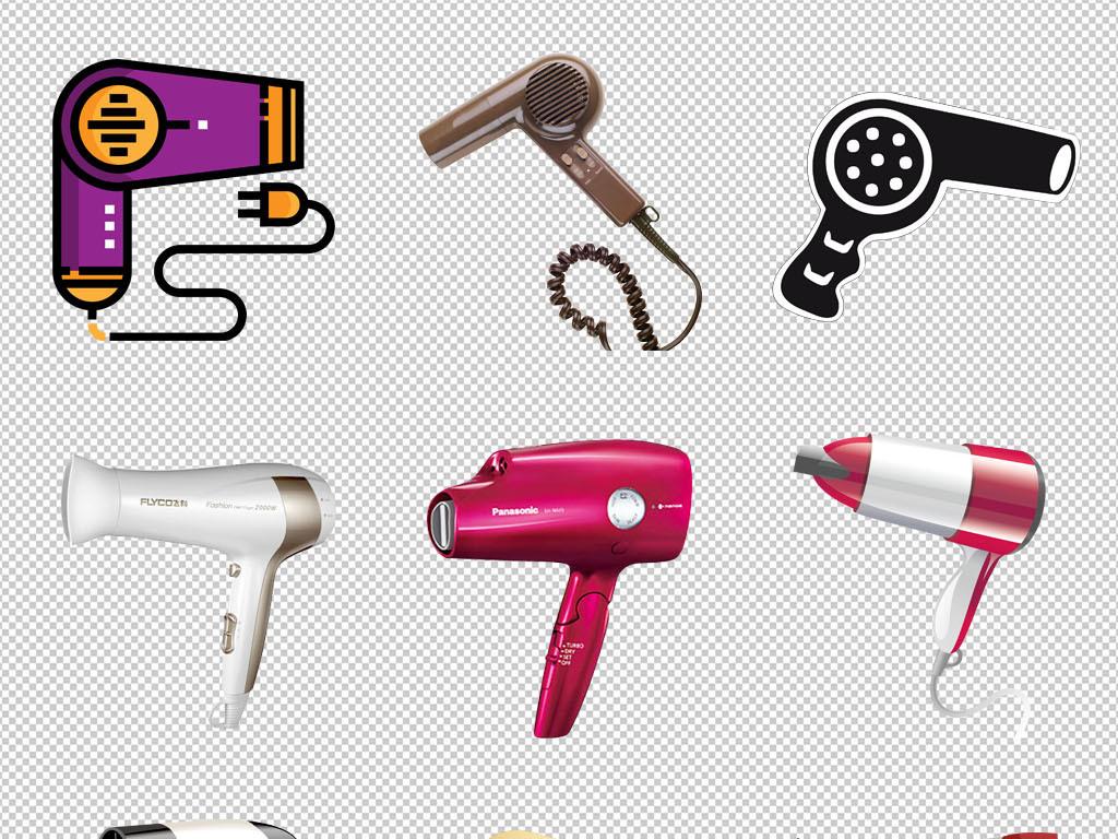 电吹风洗头家用吹风机设计海报png免扣素材