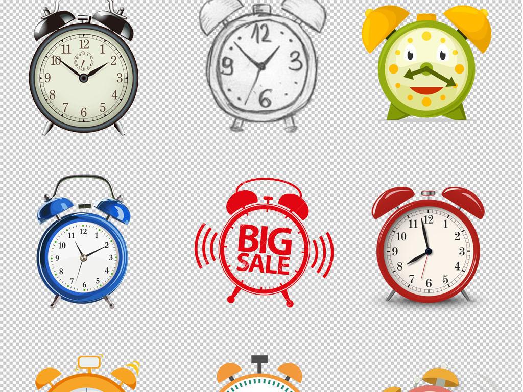 时钟高清手绘闹钟钟表海报背景p