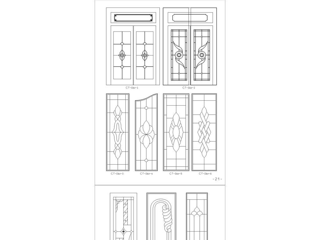 花草背景柜门套图CAD字体图dxf大门cad怎样格式空心画图片