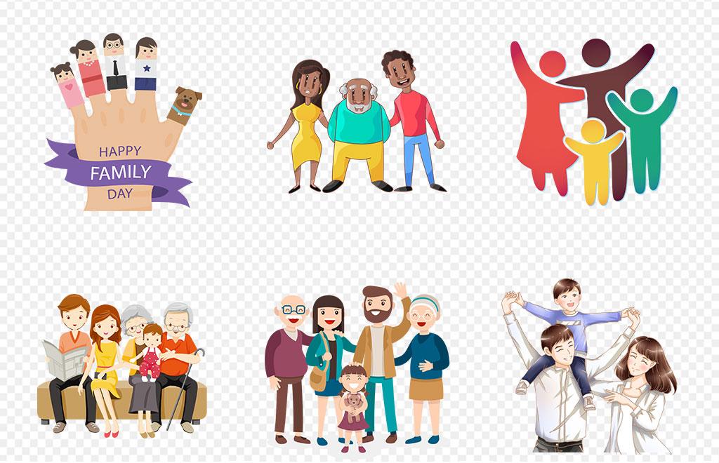 组织结构图家庭成员树照片墙模板ppt素材