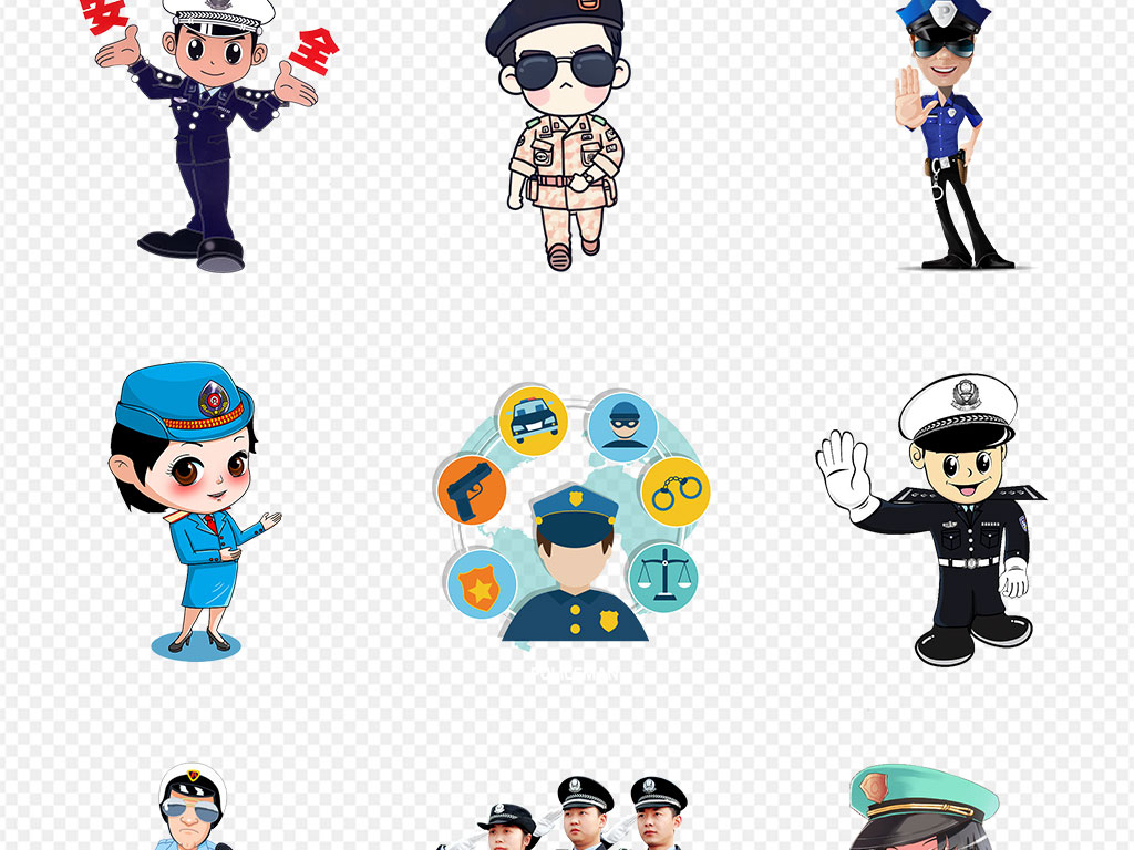 武警手绘警察警察敬礼中国警察交通警察标志可爱