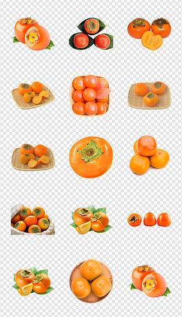 有机农特产新鲜特产柿子海报详情页PNG素材
