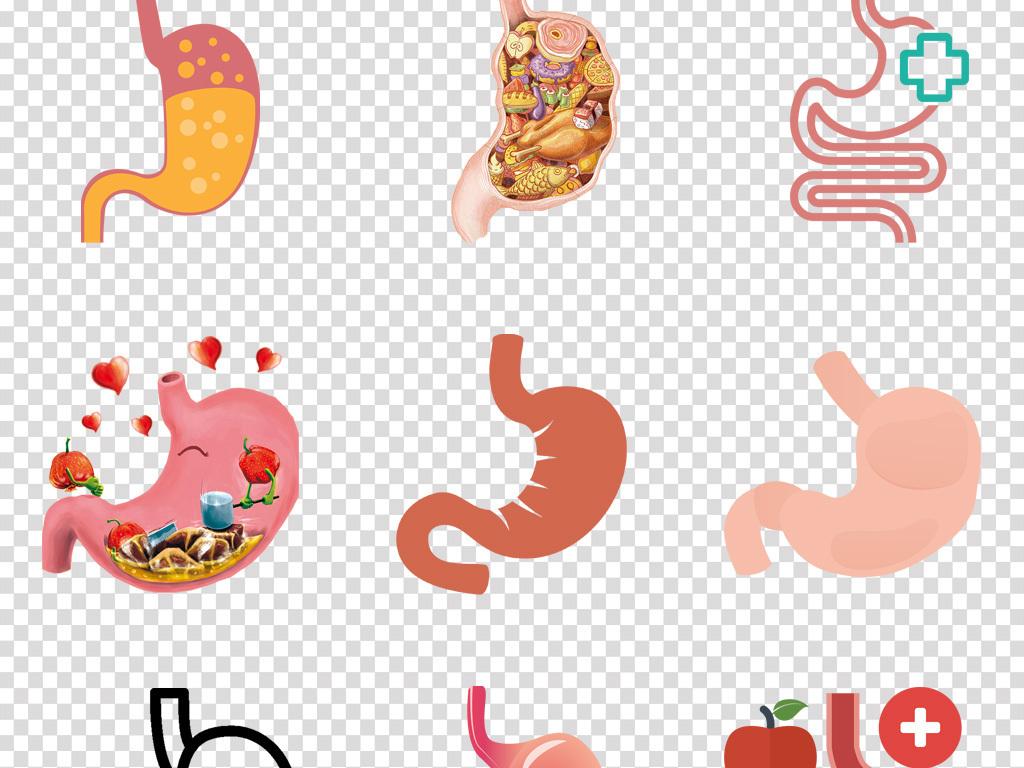 卡通胃竖大拇指夸赞红薯有益健康插画免抠素材图片免费下载_...
