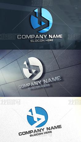 b字母logo设计潘锦秋室内设计事务所图片