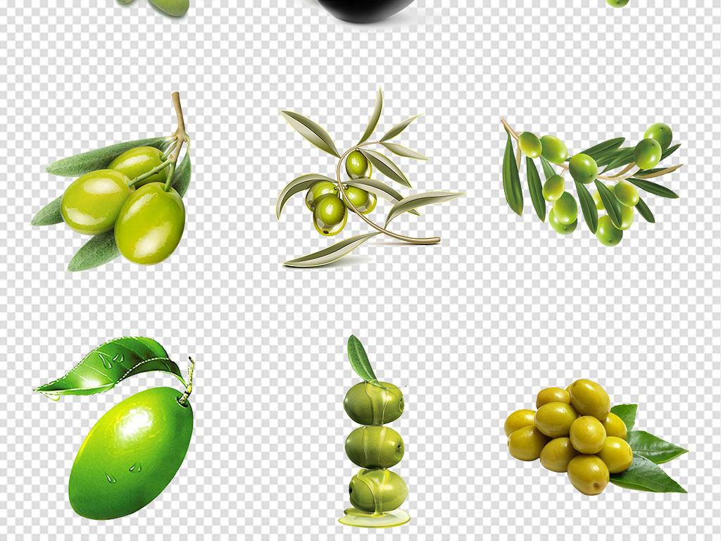 橄榄果的作用_橄榄油绿色橄榄果青橄榄png透明免扣素材