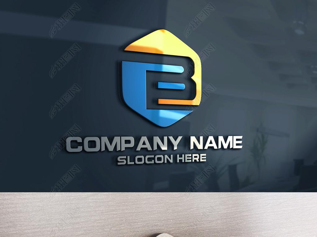 B外墙LOGOv外墙原创字母大气标志广联达gcl绘制企业图片