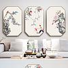 新中式古风禅意工笔花鸟客厅装饰画挂画
