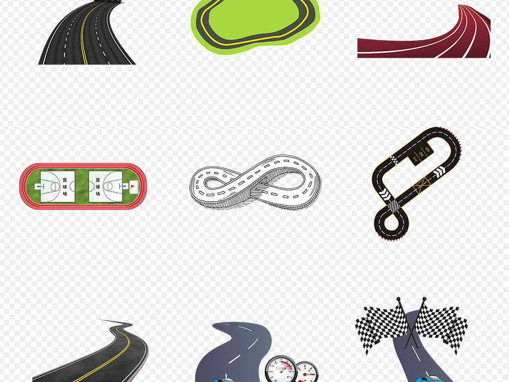 运动会红色跑道道路冲刺起跑彩色海报素材背景图片