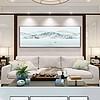 新中式简约卧室床头画横幅装饰背景墙