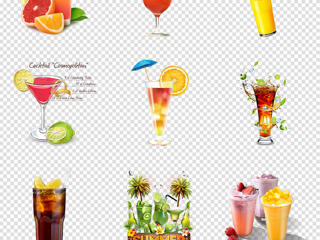 橙汁手绘图片