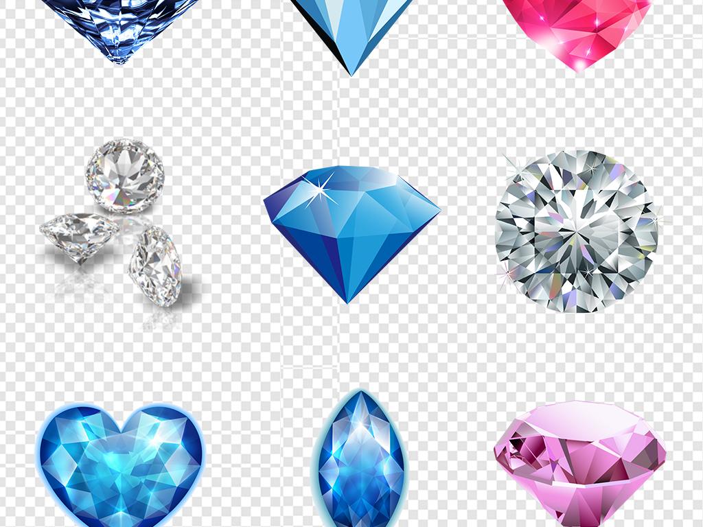 金色钻石宝石珠宝首饰手绘图案png素材