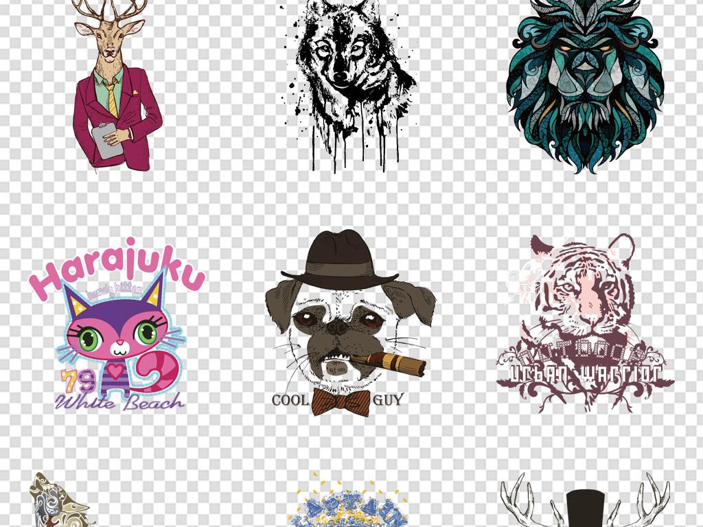 动物矢量图案手机壳图案生活用品图案印花t恤