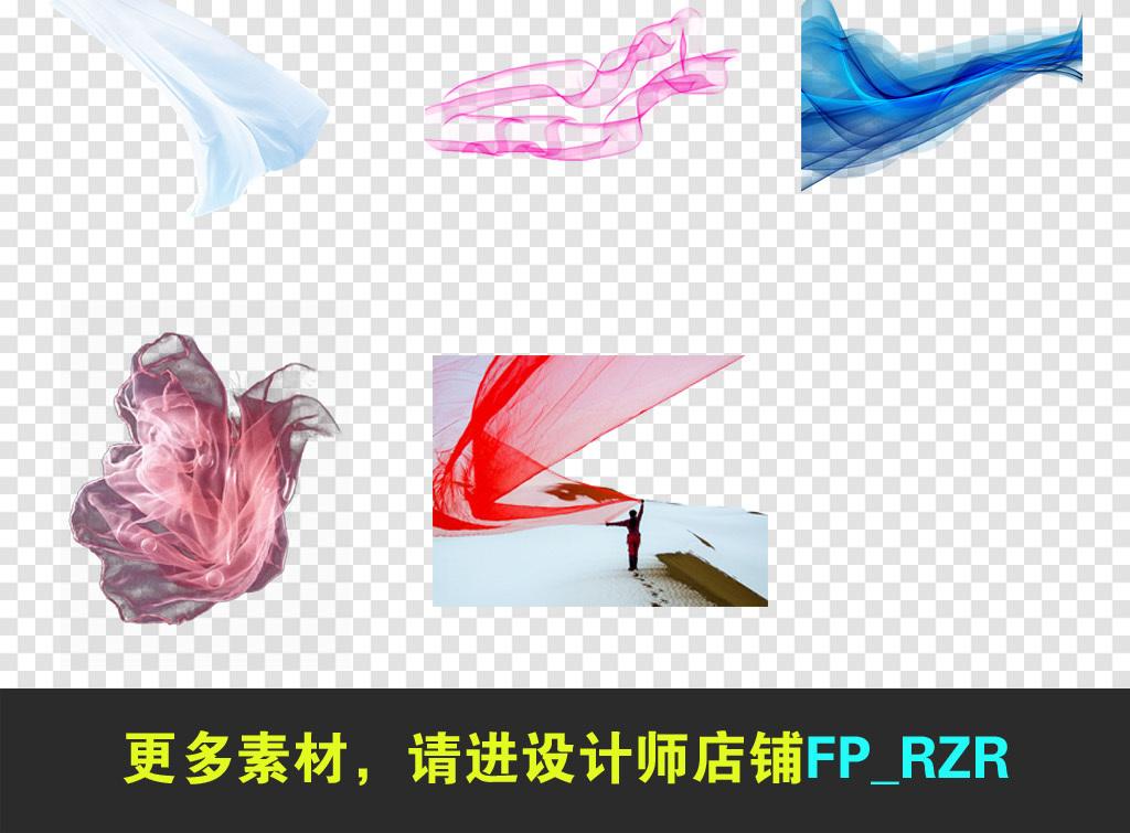 蝴蝶结背景国庆透明节日图片纱幔发带节日彩带党建边框红色飘带丝带