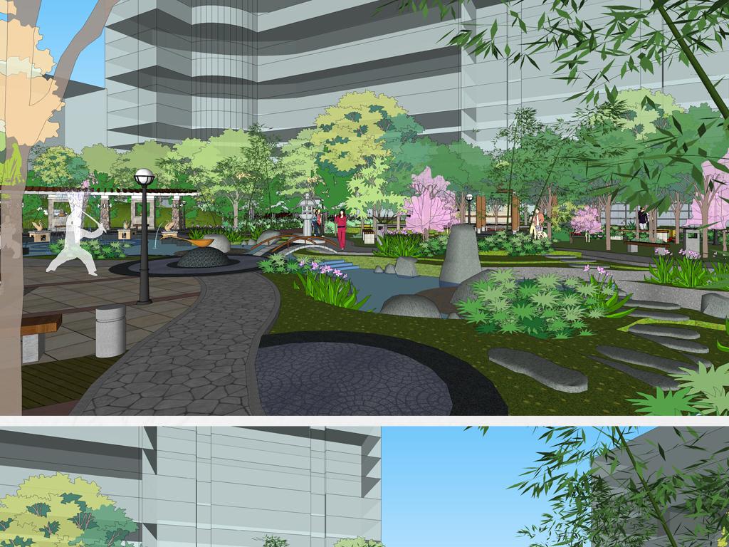 现代建筑景观建筑欧式建筑景观高层住宅设计住宅小区园林