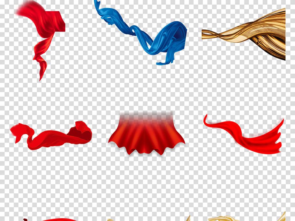 蝴蝶结背景国庆透明节日图片纱幔发带节日彩带党建边框红色背景图片