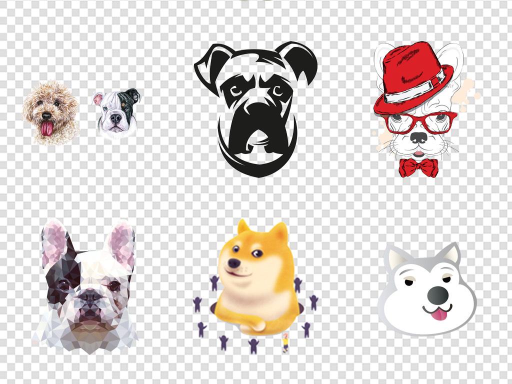 可爱狗狗卡通狗图片插画