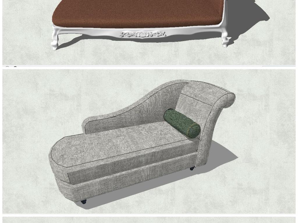 精品北欧现代风格室内设计沙发座椅su模型