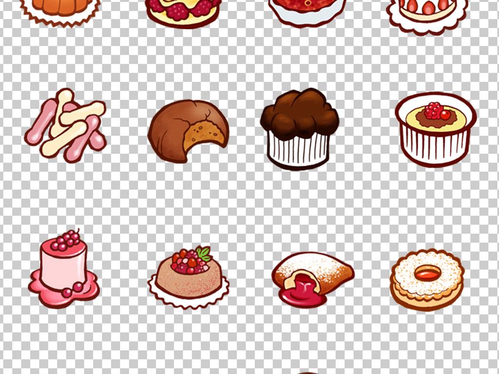 视频psd抠图抠图模板psd分层抠图装饰素材蛋糕可爱卡通可爱免抠面包
