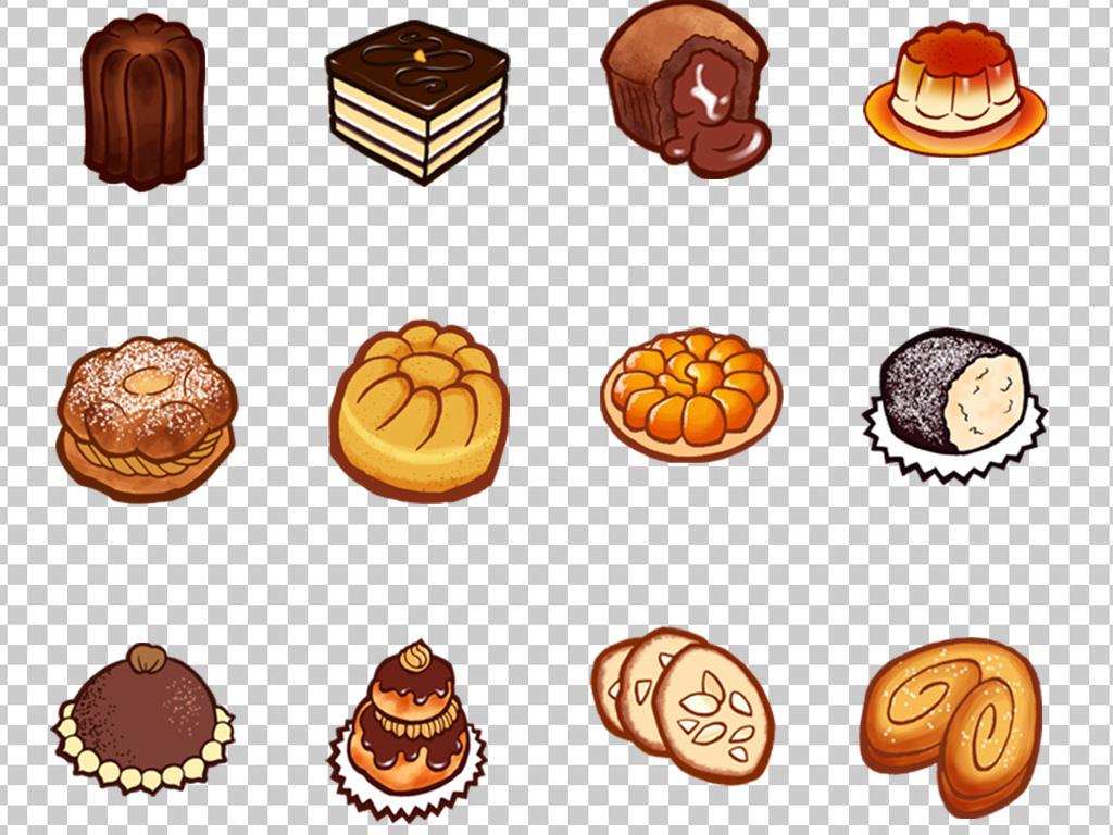 01156卡通蛋糕甜点可爱面包png图标素材免抠