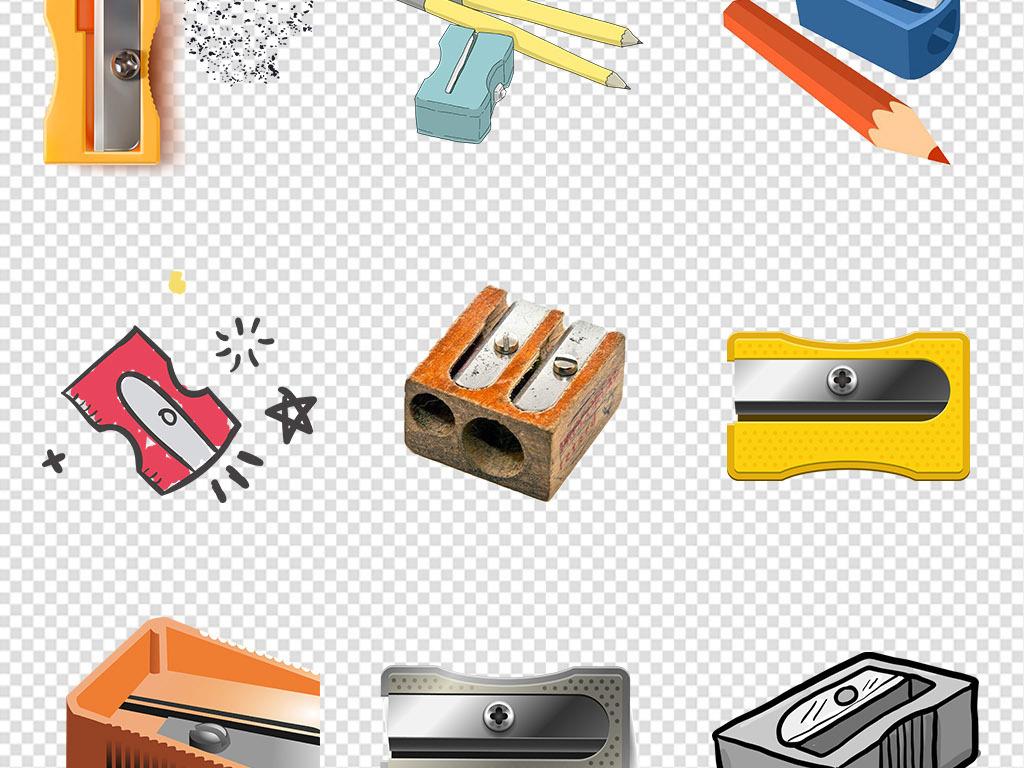 卡通转笔刀卷笔刀学习用品文具png素材