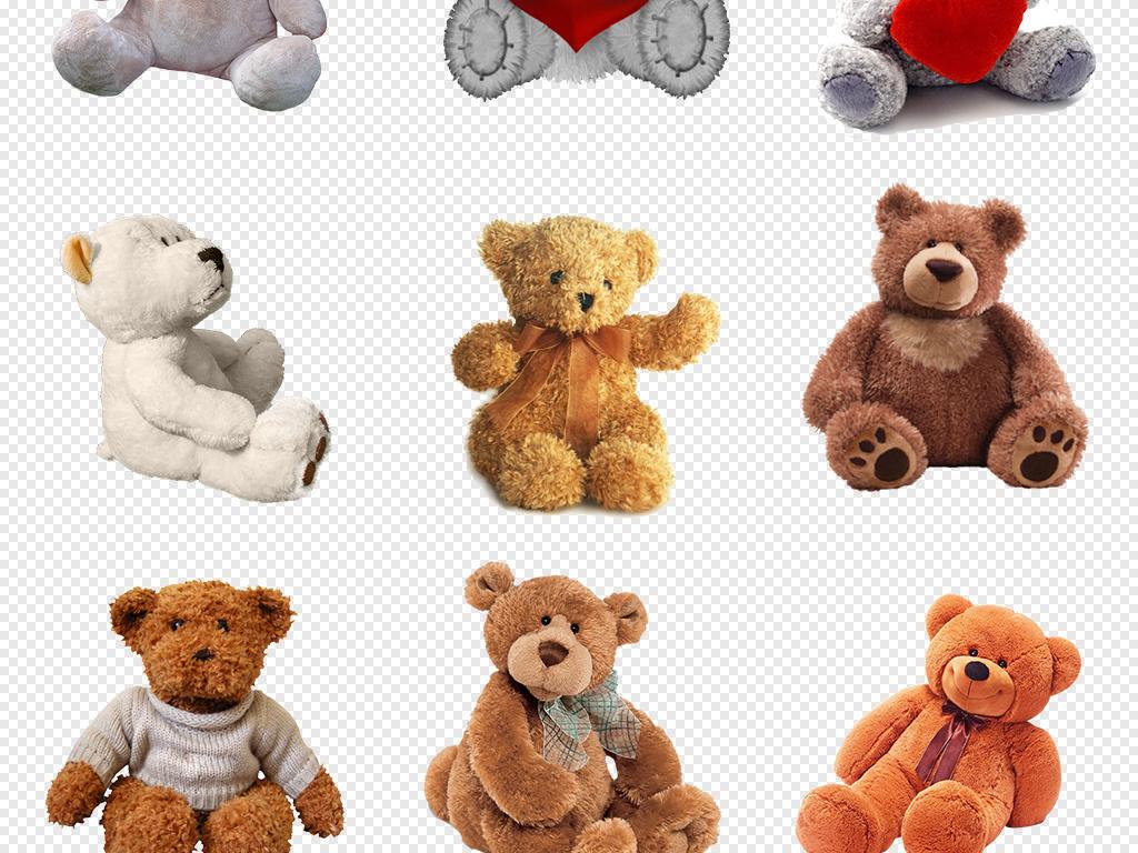 可爱玩偶布娃娃布衣布偶毛熊玩具生日礼物素材免抠