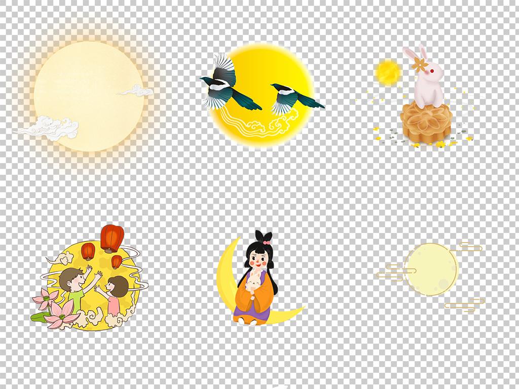 中秋节素材中秋节背景卡通月亮