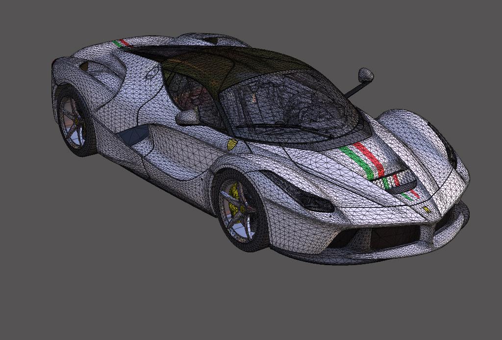 我图网提供独家原创法拉利汽车3d模型正版素材