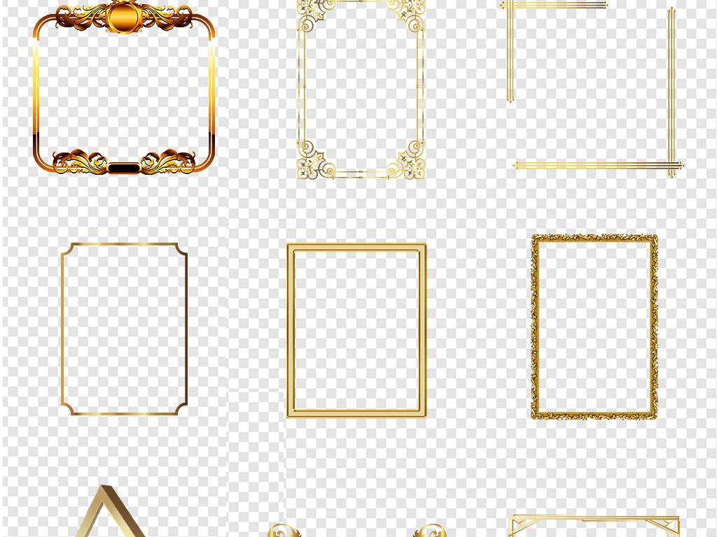 线欧式底纹奢华图片背景边框金色花纹素材花边花边边框古典边框欧式