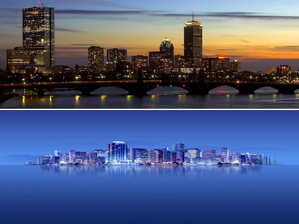 城市都市夜景建筑夜景繁华海报banner背景图