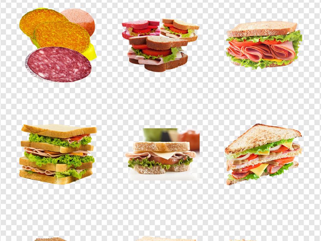 花餐饮背景麦当劳汉堡素材汉堡手绘背景汉堡包蛋糕鸡蛋早餐三明治食