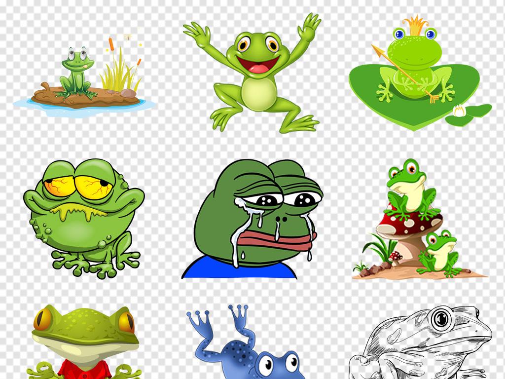 手绘卡通青蛙图片png免抠素材