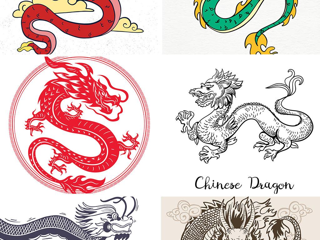 免抠元素 自然素材 动物 > 矢量金色龙中国风水墨龙浮雕龙双龙戏珠