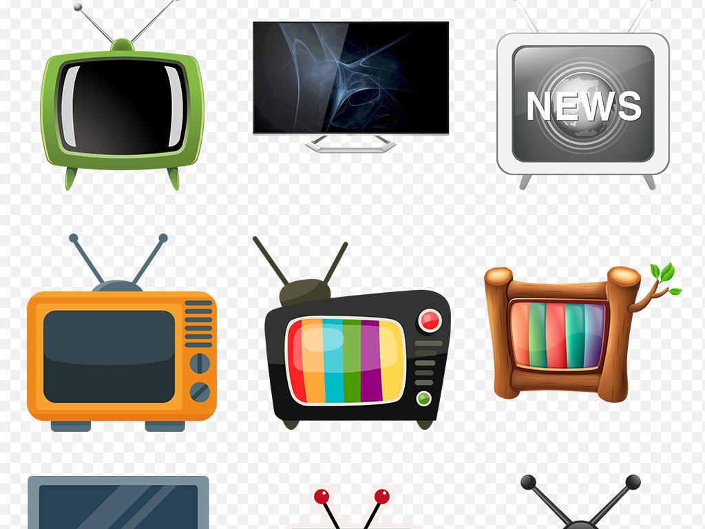 免抠元素 标志丨符号 图标 > 卡通电视可爱电视机海报素材背景图片png