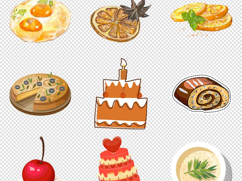 甜品手绘蛋糕下午茶点心海报素材背景png