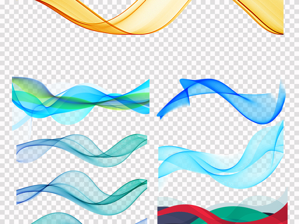 高科技背景图电子科技科技小报圆形科技海报元素绸带线条