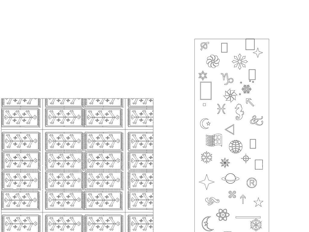 家百福纹底格式套图CAD字体图dxf纹路越南cad背景库图片