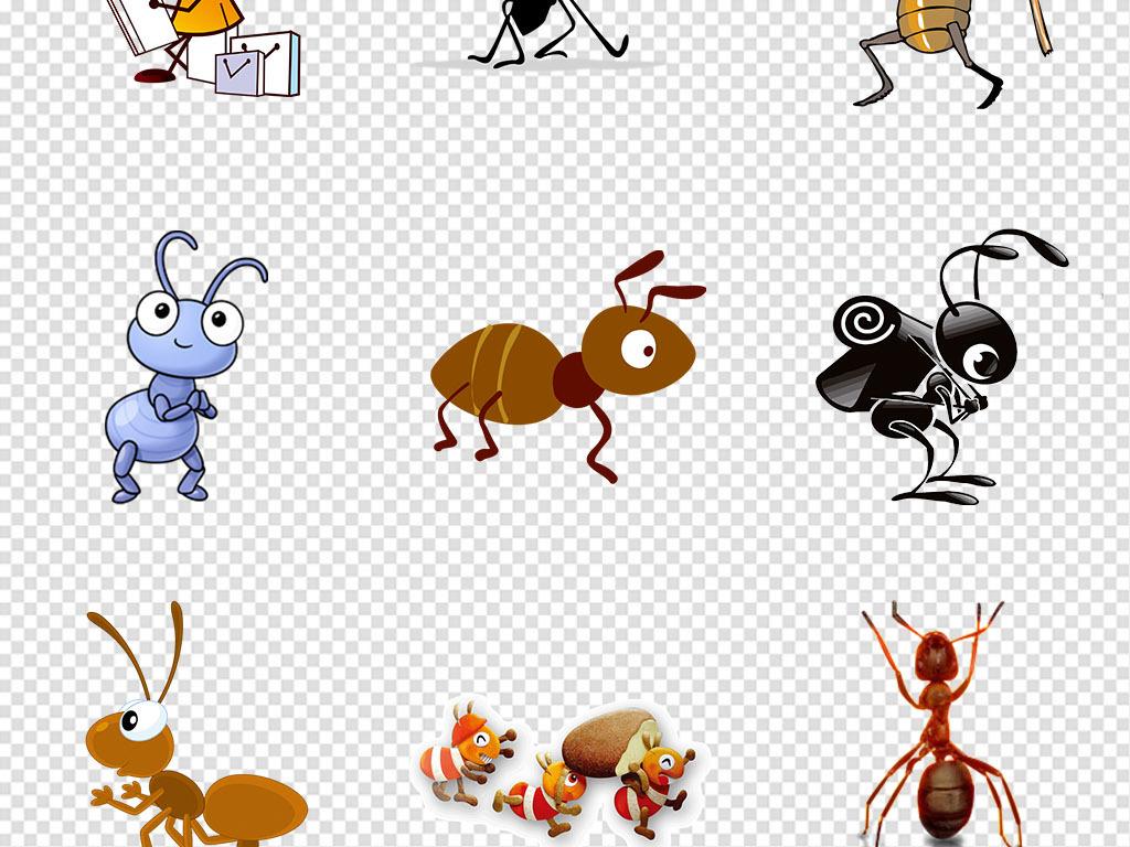 卡通手绘可爱蚂蚁动物png免抠素材
