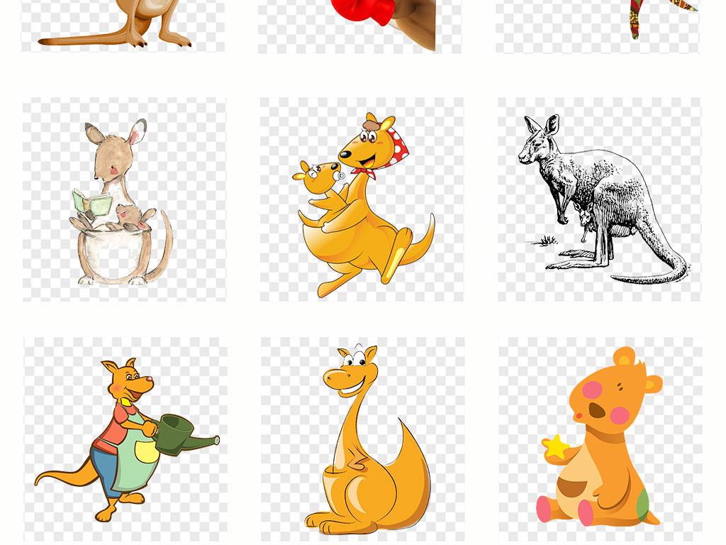 袋鼠儿童绘画作品