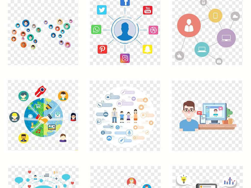 互联网电子商务金融科技png透明素材图片_模板下载(16图片
