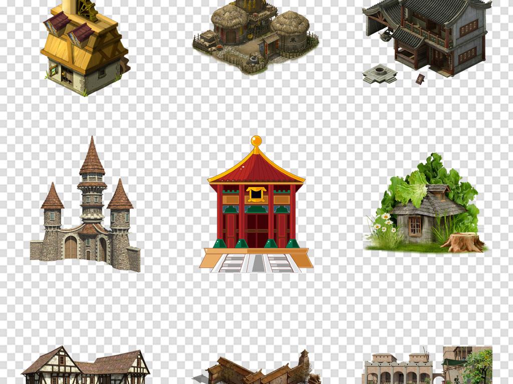 房屋立体透视图 手绘
