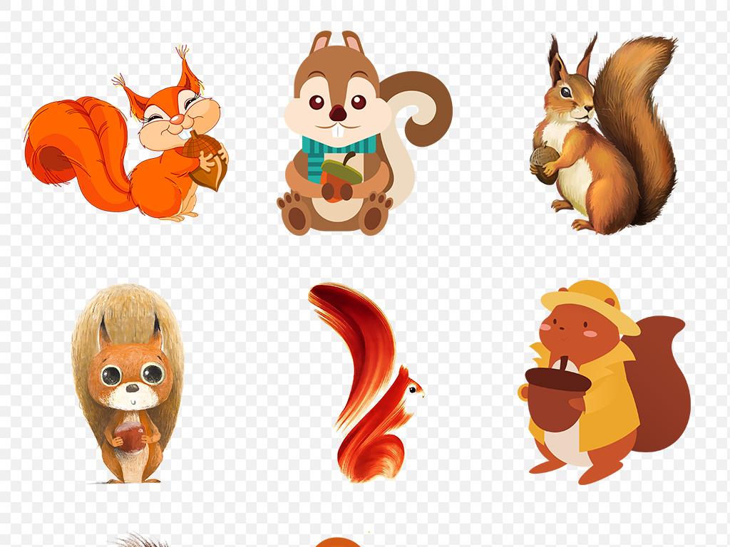 卡通松鼠动物海报素材背景图片png