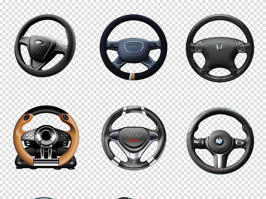 卡通黑色汽车方向盘png透明背景免抠素材