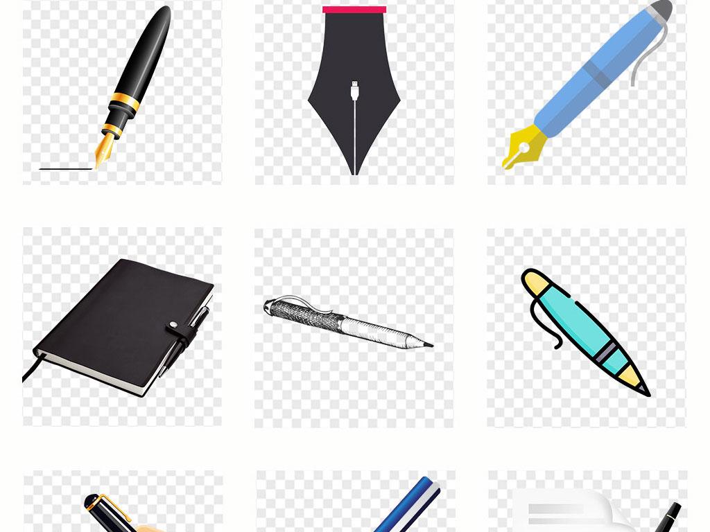 钢笔手绘黑色写字墨水线条png透明素材