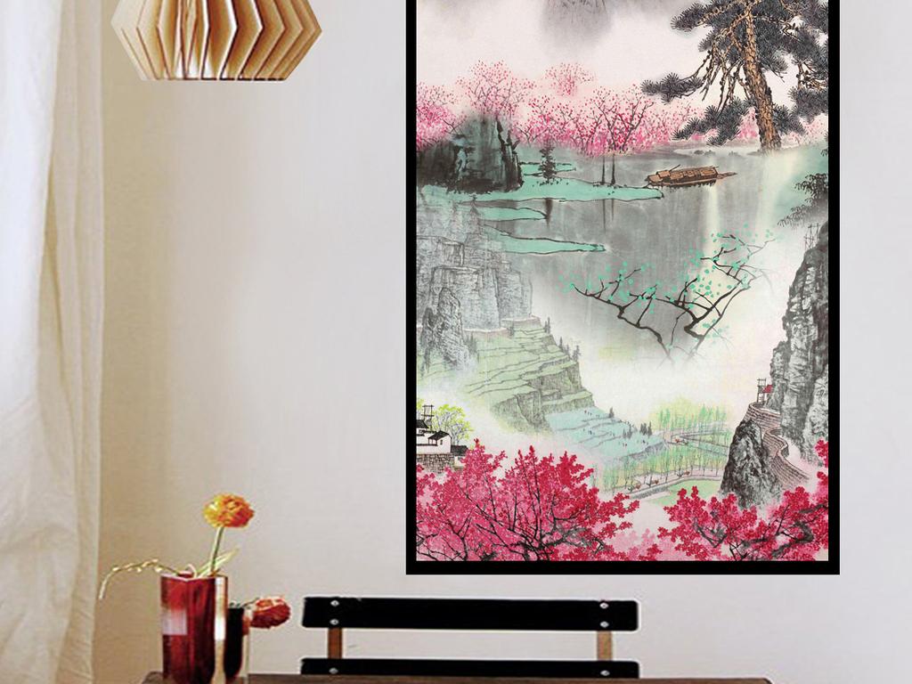 黄山风景玄关画