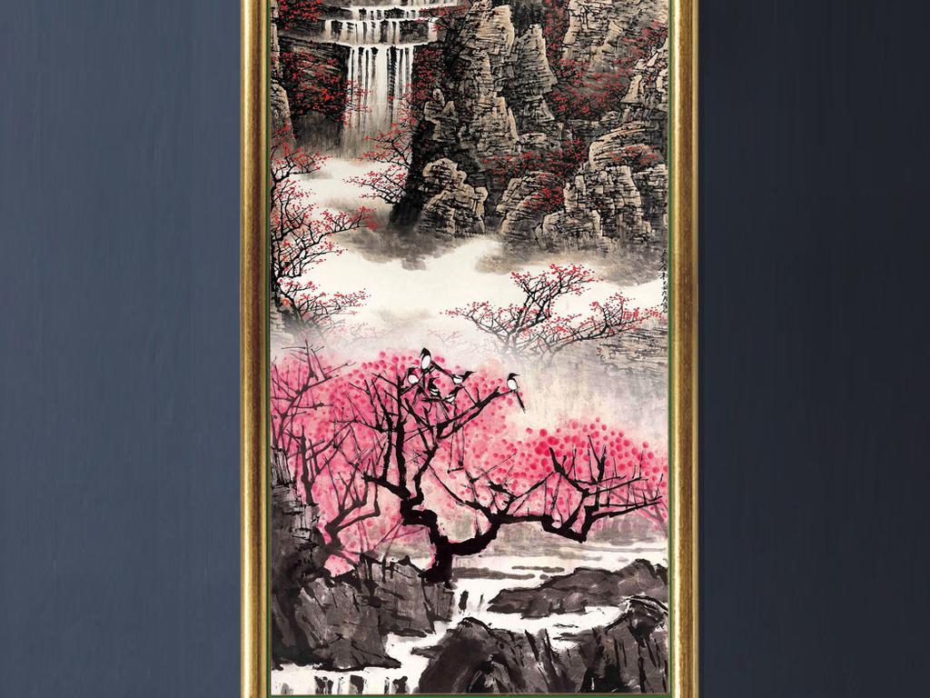 泰山风景玄关画