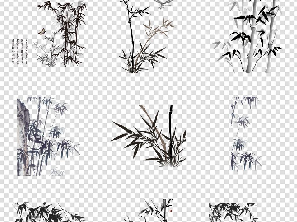 中国风竹子                                          手绘竹子